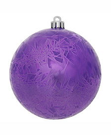 "Vickerman 6"" Purple Crackle Ball Christmas Ornament"