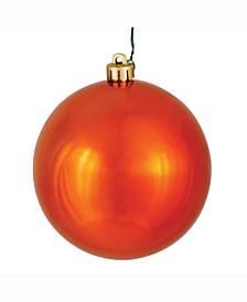 "8"" Burnish Orange Shiny Ball Christmas Ornament"