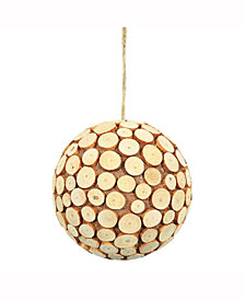 "6"" Pine Chip Ball Ornament."