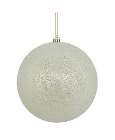 "Vickerman 8"" Champagne Iced Ball Ornament"