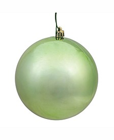 "6"" Celadon Shiny Ball Christmas Ornament, 4 Per Bag"