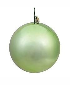"Vickerman 6"" Celadon Shiny Ball Christmas Ornament, 4 Per Bag"