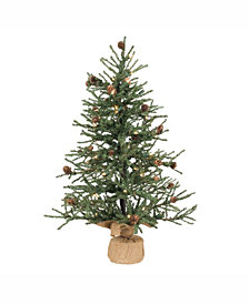 Vickerman 30 inch Carmel Pine Artificial Christmas Tree