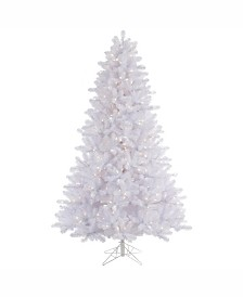 Vickerman 6.5 ft Crystal White Pine Artificial Christmas Tree With 550 Warm White Led Lights