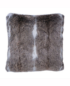 Vickerman Decorative Pillow Features Elegant And Plush Faux Fur Stripe Design