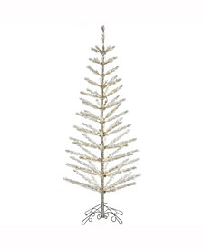 "Vickerman 7' X 30"" Champagne Feather Tree"