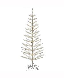 "Vickerman 7' X 30"" Champagne Feather Tree"