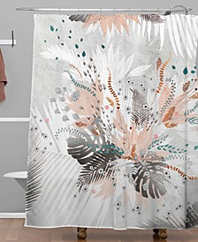 Iveta Abolina Tropical Silver Shower Curtain