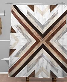 Deny Designs Iveta Abolina Geo Wood 1 Shower Curtain