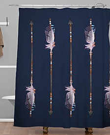 Iveta Abolina Native Blue Arrows Shower Curtain