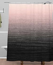 Iveta Abolina Peach Blush Ombre Shower Curtain