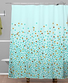 Iveta Abolina Teal Splash Shower Curtain