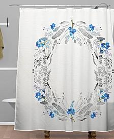 Iveta Abolina Dreamland Blue Shower Curtain