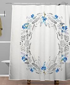 Deny Designs Iveta Abolina Dreamland Blue Shower Curtain