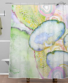 Iveta Abolina Agate Dreams I Shower Curtain