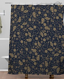 Deny Designs Iveta Abolina Crystalline Water Navy Shower Curtain
