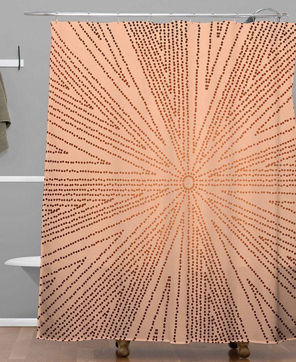 Deny Designs Iveta Abolina Copper Leaf Shower Curtain