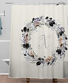 Iveta Abolina Silver Dove X Shower Curtain