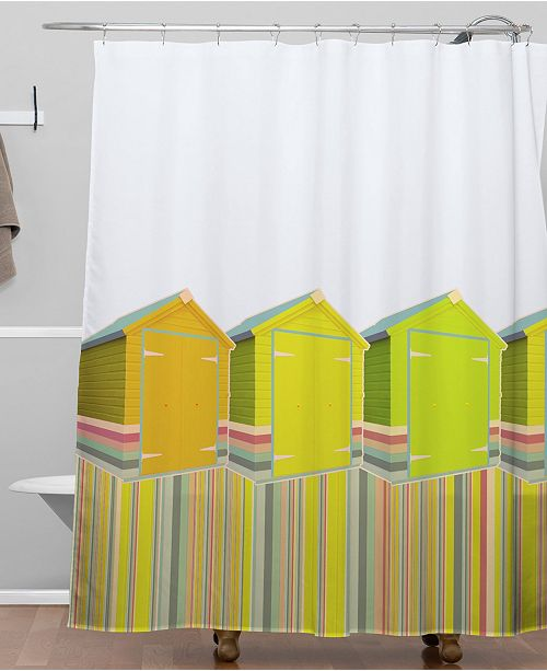 Deny Designs Iveta Abolina Lets Live in a Beach Shed Shower Curtain