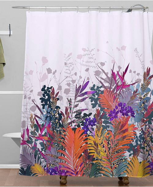 Deny Designs Iveta Abolina Anabelle Lilac Shower Curtain