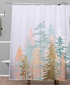Iveta Abolina Blush Forest Shower Curtain