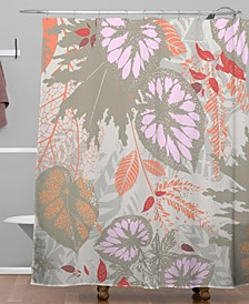 Iveta Abolina Alocasia Garden Shower Curtain
