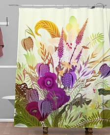 Iveta Abolina Viola Garden II Shower Curtain