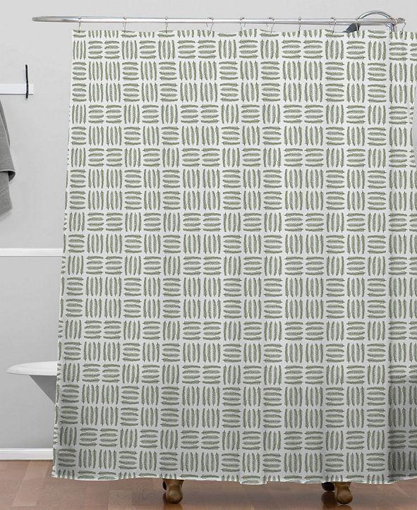 Deny Designs Iveta Abolina Pine Needle Checker II Shower Curtain
