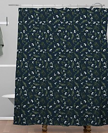 Deny Designs Iveta Abolina Nordic Olive Blue Shower Curtain