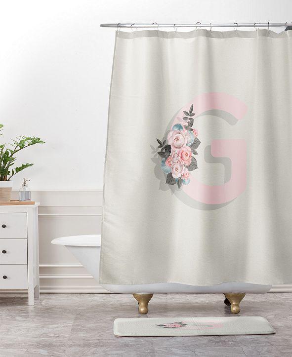 Deny Designs Iveta Abolina Pivoine J Bath Mat