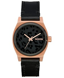 Nixon Women's Time Teller Leather Strap Watch 31mm