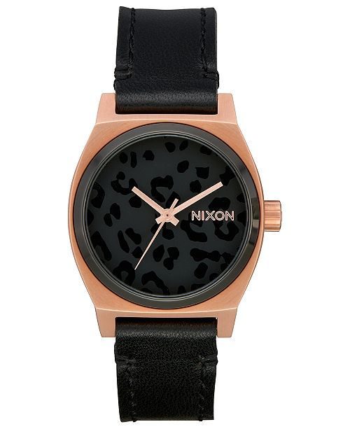 bb6aab312 Nixon Women's Time Teller Leather Strap Watch 31mm & Reviews ...