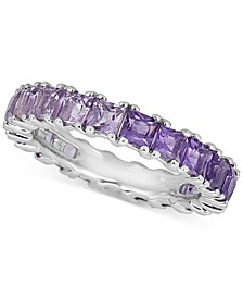 Amethyst (1-1/2 ct. t.w.) & Pink Amethyst (1-1/4 ct. t.w.) Princess Band in Sterling Silver
