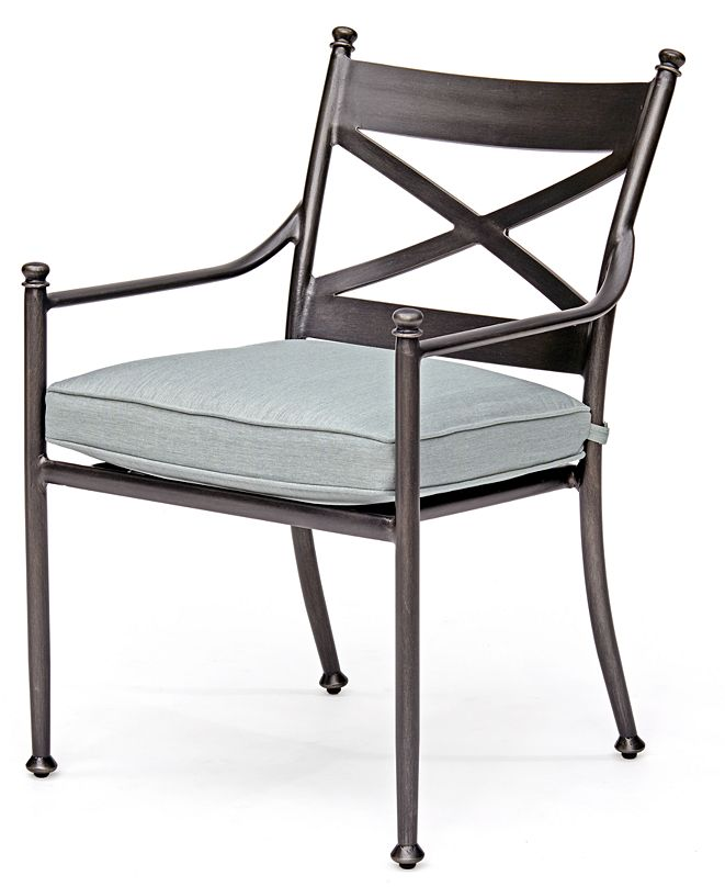 Furniture Montclaire Outdoor Dining Chair With Sunbrella® Cushion, Created for Macy's