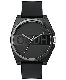 Unisex's #Play Black Rubber Strap Watch 40mm