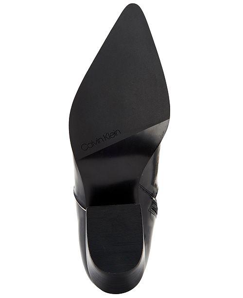 b7baa9bcb59 Calvin Klein Women s Nanuka Booties   Reviews - Boots - Shoes - Macy s