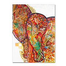 Oxana Ziaka 'Red India' Canvas Art Collection