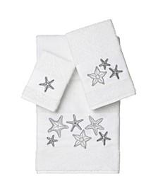 Lydia 3-Pc. Embellished Towel Set