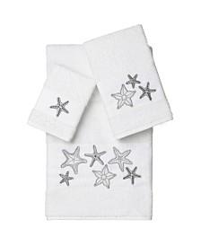 Linum Home Lydia 3-Pc. Embellished Towel Set