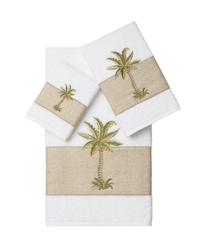Linum Home - COLTON 3PC Embellished Towel Set