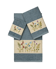 Serenity 3-Pc. Embellished Towel Set