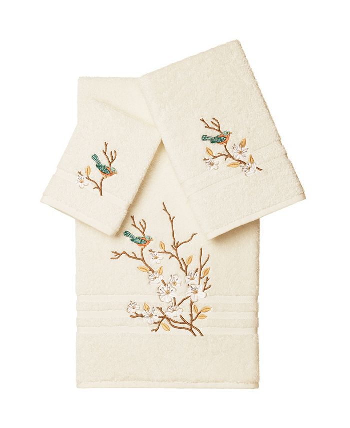 Linum Home - SPRING TIME 3PC Embellished Towel Set