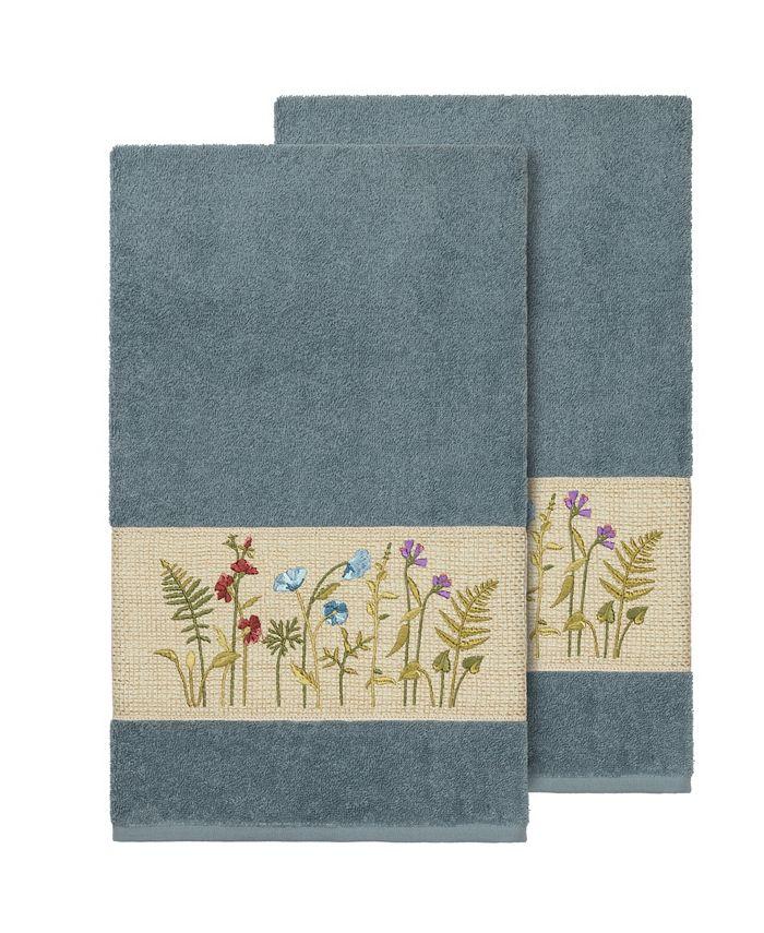 Linum Home - SERENITY 2PC Embellished Bath Towel Set