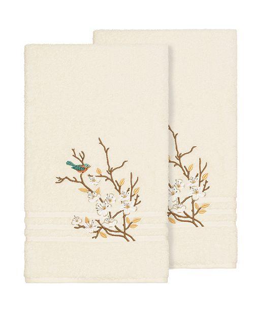 Linum Home Springtime 2-Pc. Embellished Bath Towel Set