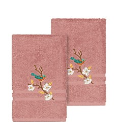 Linum Home Springtime 2-Pc. Embellished Hand Towel Set