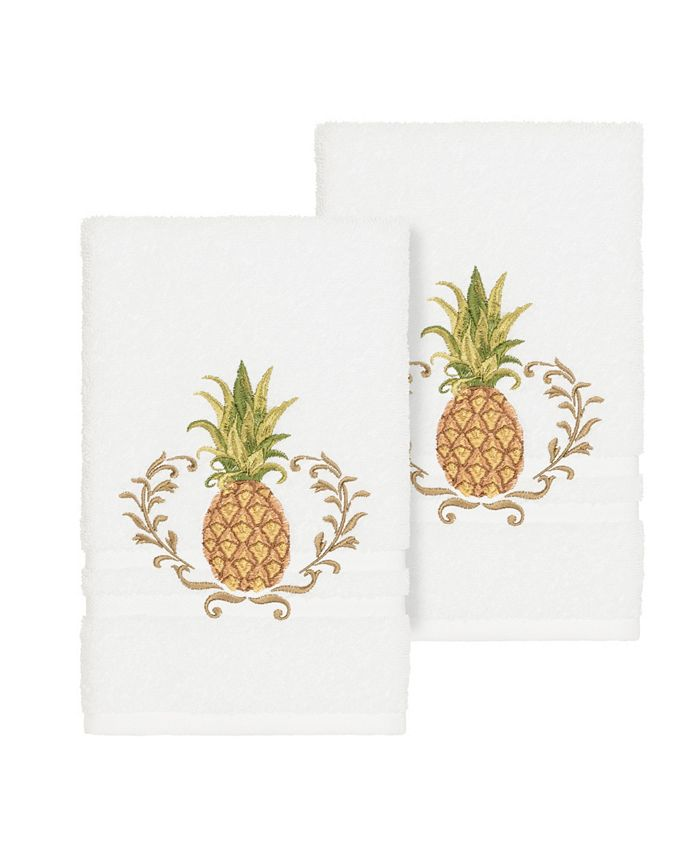 Linum Home - WELCOME 2PC Embellished Hand Towel Set