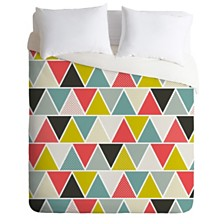Deny Designs Heather Dutton Triangulum King Duvet Set