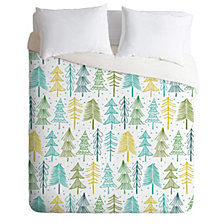 Deny Designs Heather Dutton Oh Christmas Tree Frost Twin Duvet Set
