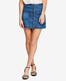 Free People Don't Get Me Wrong Cotton Denim Skirt
