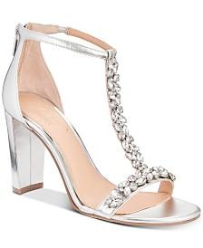 Jewel Badgley Mischka Morley Embellished Evening Sandals